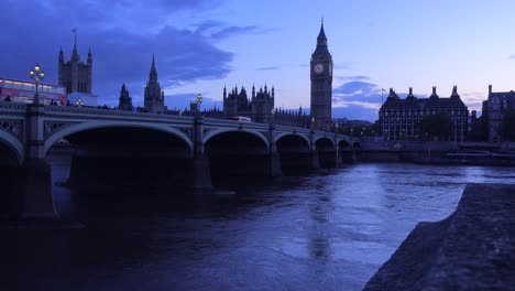 Dusk-shot-of-the-River-Thames-with-Big-Ben-Parliament-and-Westminster-Abbey-distant-2
