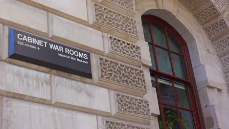 Establishing-shot-of-the-Cabinet-War-Rooms-of-British-Parliament