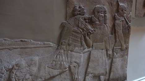 Famous-ancient-carvings-and-artifacts-excavated-at-Nimrud-Iraq-now-in-the-British-Museum-London
