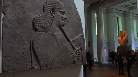 Famous-ancient-carvings-and-artifacts-excavated-at-Nimrud-Iraq-now-in-the-British-Museum-London-1
