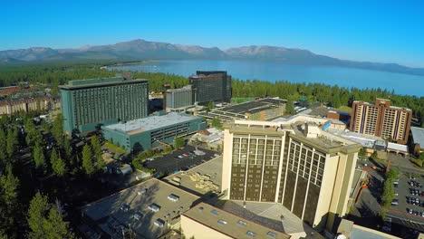 An-aerial-shot-over-casinos-at-South-Lake-Tahoe-Nevada