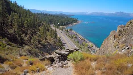 A-beautiful-aerial-shot-reveals-Lake-Tahoe