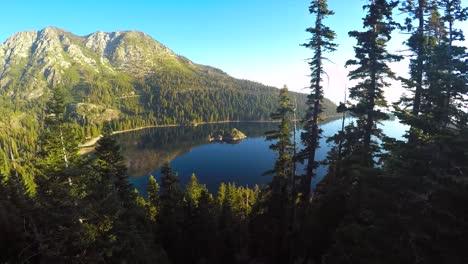 A-beautiful-aerial-shot-at-dawn-over-Emerald-Bay-Lake-Tahoe-3