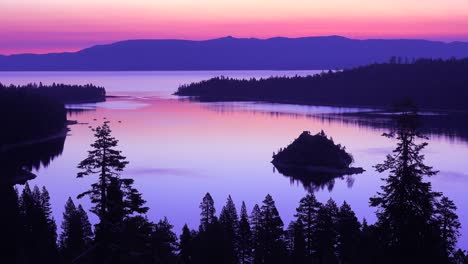 A-beautiful-dawn-establishing-shot-of-Emerald-Bay-at-Lake-Tahoe
