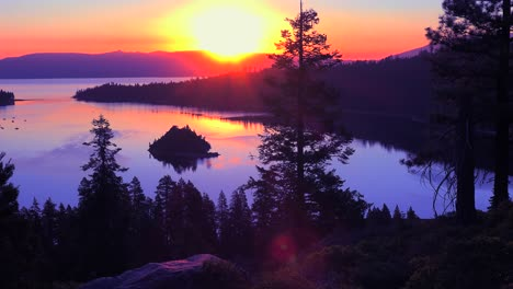 A-beautiful-sunrise-establishing-shot-of-Emerald-Bay-at-Lake-Tahoe-2