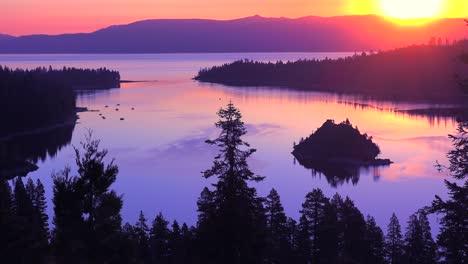 A-beautiful-sunrise-establishing-shot-of-Emerald-Bay-at-Lake-Tahoe-3
