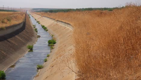 Irrigation-canals-are-dry-in-California-during-a-drought