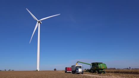 Giant-windmills-turn-near-a-rural-Midwestern-farm