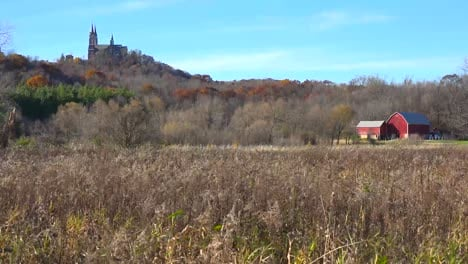 Nice-establishing-shot-of-Holy-Hill-a-remote-monastery-in-rural-Wisconsin