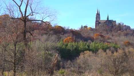 Nice-establishing-pan-shot-of-Holy-Hill-a-remote-monastery-in-rural-Wisconsin-1