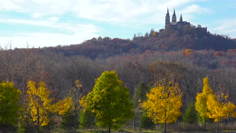 Nice-establishing-pan-shot-of-Holy-Hill-a-remote-monastery-in-rural-Wisconsin-2