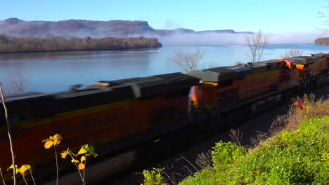 A-freight-train-rolls-along-the-Mississippi-River