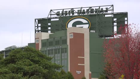Establishing-shot-of-Lambeau-Field-home-of-the-NFL-Green-Bay-packers