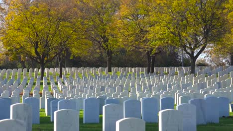 Establishing-shot-of-a-vast-war-cemetery-near-Milwaukee-Wisconsin