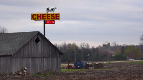 An-establishing-shot-of-a-rural-cheese-store-in-Wisconsin-