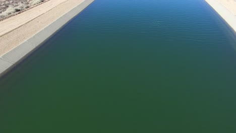 Aerial-pan-up-over-the-California-aqueduct-delivering-water-to-a-drought-stricken-state