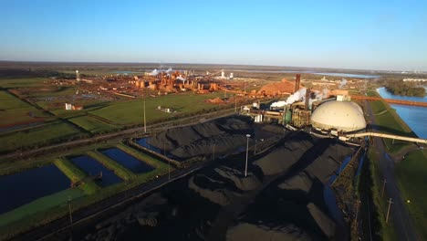 Aerial-over-an-industrial-aluminum-manufacturing-plant