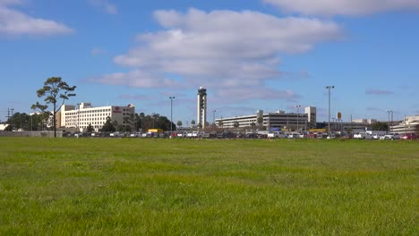 Establishing-shot-of-Louis-Armstrong-International-Airport-in-New-Orleans-Louisiana