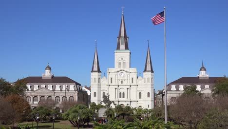 Beautiful-Jackson-Square-and-St-Louis-cathedral-in-New-Orleans-Louisiana