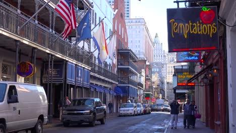Establishing-shot-of-Bourbon-Street-sign-French-Quarter-New-Orleans-day-1