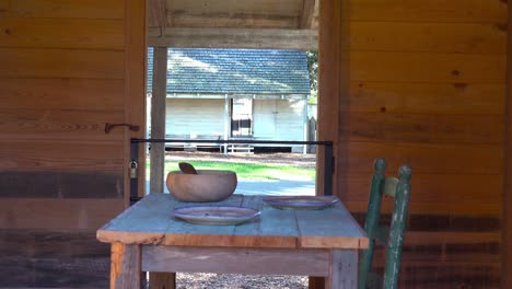 The-restored-interior-of-a-slave-cabin-in-the-deep-south