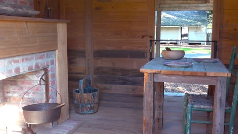 The-restored-interior-of-a-slave-cabin-in-the-deep-south-1