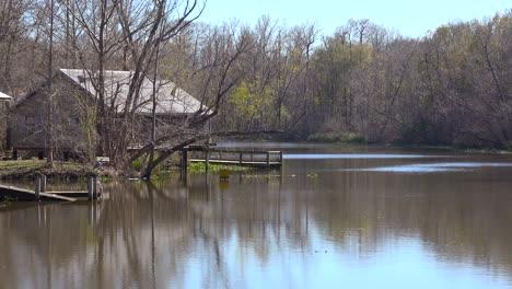 A-remote-cabin-sits-deep-in-the-mangrove-swamp-bayou-of-Louisiana