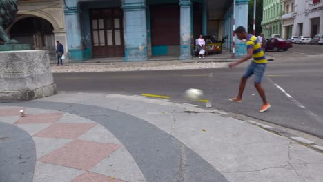 Kids-play-soccer-on-the-street-in-the-old-city-of-Havana-Cuba