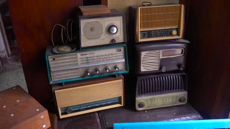 Old-fashioned-radios-are-stacked-in-a-shop-in-the-old-city-of-Havana-Cuba