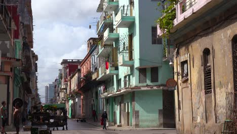 A-beautiful-colorful-shot-of-the-old-city-of-Havana-Cuba