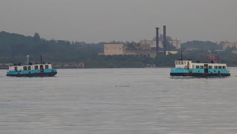 Ferry-boats-pass-in-the-harbor-in-havana-Cuba
