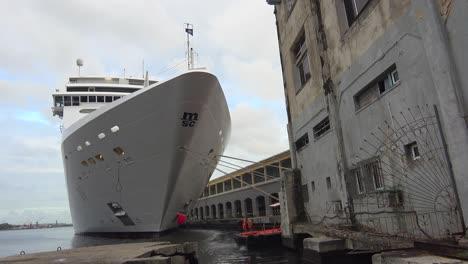 Massive-cruise-ships-dock-at-Havana-harbor-Cuba