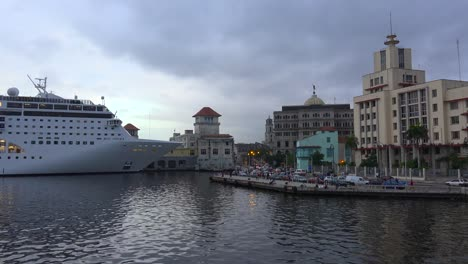 Massive-cruise-ships-dock-at-Havana-harbor-Cuba-3