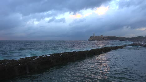 The-fort-and-waterfront-in-Havana-Cuba
