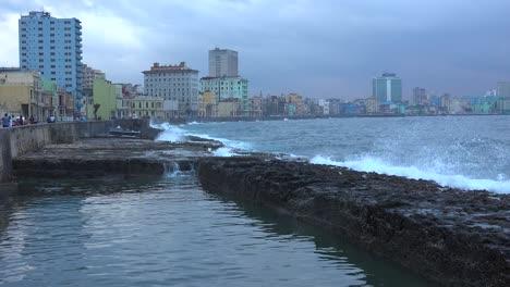 Waves-break-on-the-Malecon-in-Havana-Cuba-during-a-winter-storm