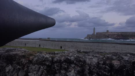 The-Morro-castle-and-fort-in-Havana-Cuba-with-cannon