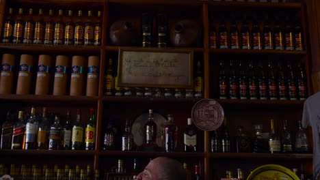 Lots-of-rum-on-the-shelves-of-Cuban-bar-in-Havana