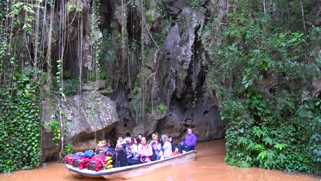 A-tourist-boat-emerges-from-Cueva-del-Indio-cave-in-Vinales-National-Park-Cuba
