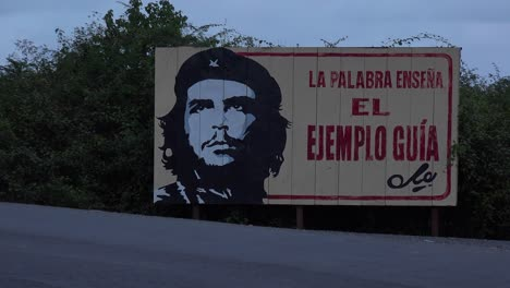 Communist-propaganda-billboards-line-a-road-in-Cuba