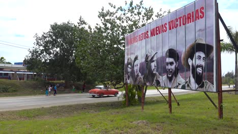 Communist-propaganda-billboards-line-a-road-in-Cuba-includes-Fidel-Castro-and-other-revolutionary-heroes-1