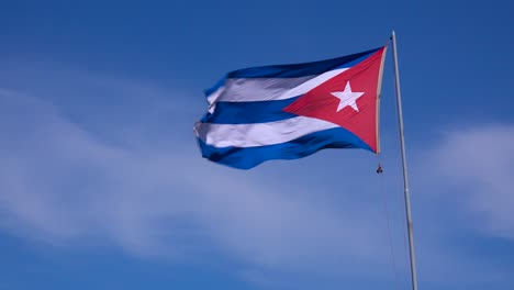 The-flag-of-Cuba-flies-in-the-sky-1