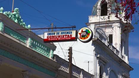 Hauptquartier-Der-Kommunistischen-Partei-In-Der-Stadt-Cienfuegos-Kuba