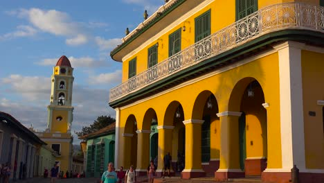 A-beautiful-shot-of-the-buildings-and-cobblestone-streets-of-Trinidad-Cuba-with-1