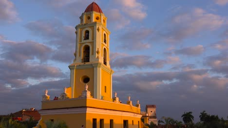 A-beautiful-time-lapse-shot-of-the-Church-Of-The-Holy-Trinity-in-Trinidad-Cuba