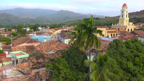 A-beautiful-overview-of-the-town-of-Trinidad-Cuba-with-The-Church-Of-The-Holy-Trinity-visible
