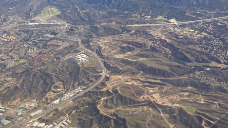 Aerial-shot-over-the-suburban-sprawl-in-the-hills-outside-Los-Angeles
