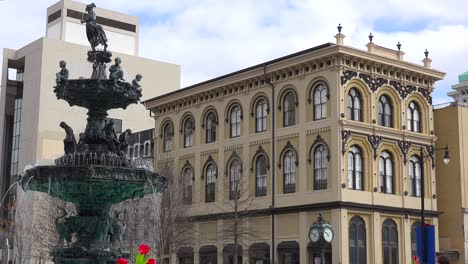 An-establishing-shot-of-downtown-Montgomery-Alabama-with-lovely-restored-buildings