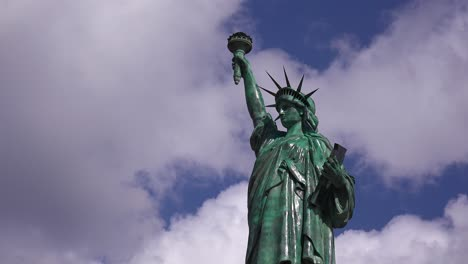 A-patriotic-shot-of-the-Statue-Of-Liberty-against-a-cloudy-sky-2