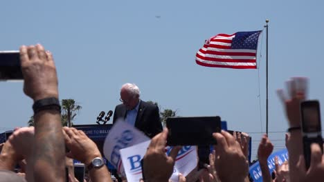 Bernie-Sanders-speaks-in-front-of-a-huge-crowd-at-a-political-rally