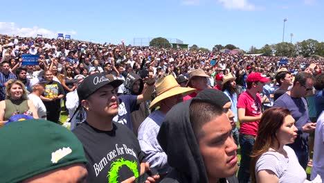 Attendees-at-a-Bernie-Sanders-rally-watch-his-speech-from-a-hillside